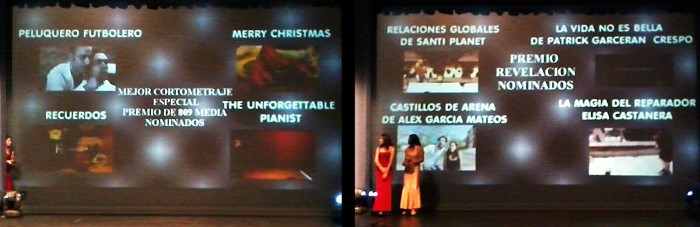 """""""Recuerdos"""" y """"Relaciones globales"""", nominados en Los Oriana 2013."""