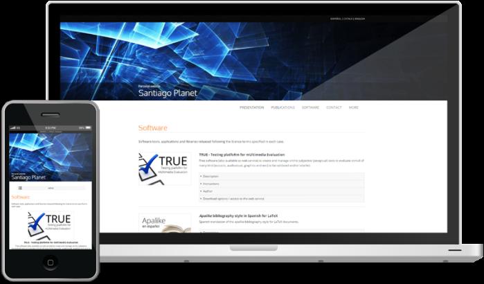 Diseño responsive de la web
