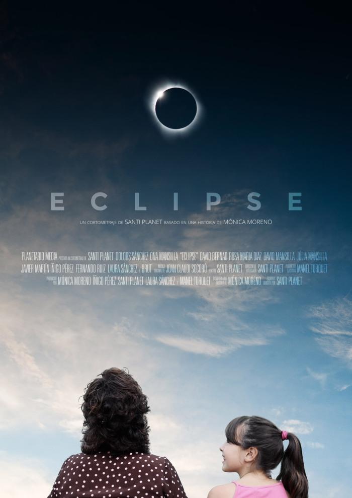 "Cartel del cortometraje ""Eclipse"" (Santi Planet, 2016)"