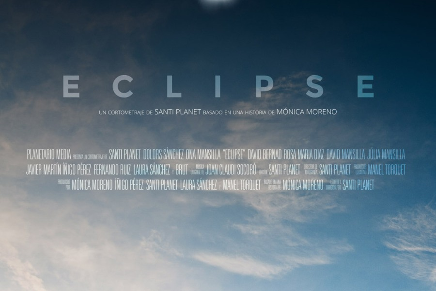 "Cartel del cortometraje ""Eclipse"" (Santi Planet, 2016)"