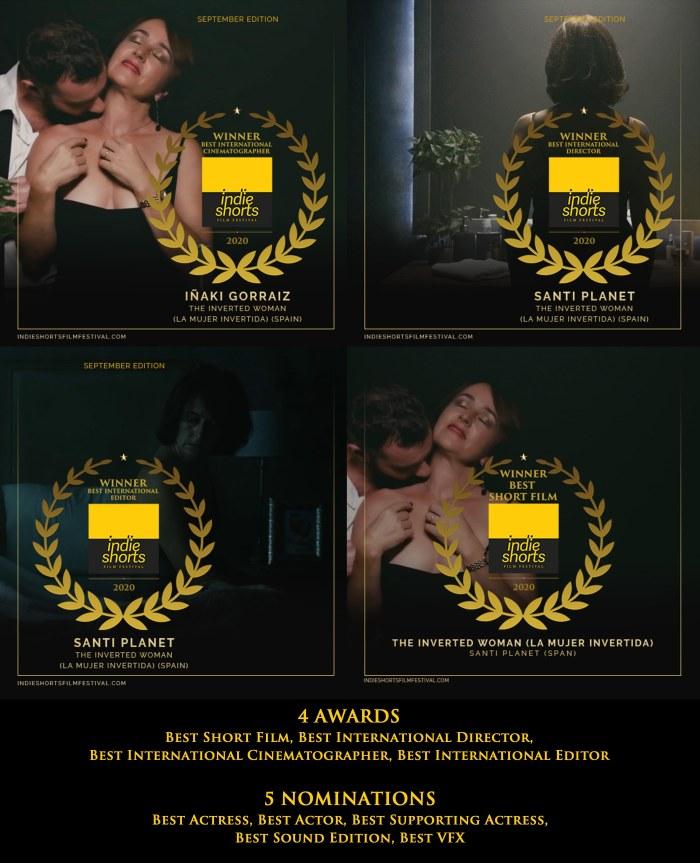 """""""La mujer invertida"""" arrasa en el Indie Shorts Film Festival"""